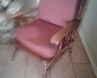 Early American solid wood chair