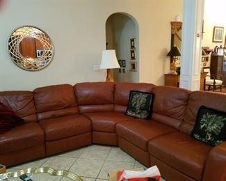 Beautiful leather sofa group