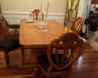 Beautiful empire style table and chairs