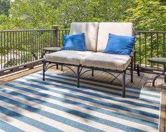 Double metal Chaise loung and tables