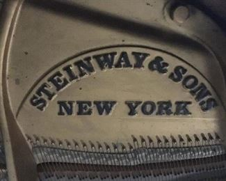 Interior Grand Piano Piano Detail: Steinway & Sons New York