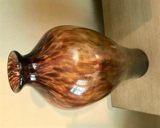 Tiger glass vase