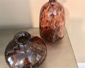 Tiger glass vases