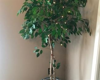 Faux tree with Japanese ceramic vase