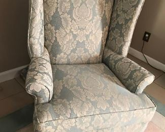 "Chippendale Wing Chair (2) Seat Depth:  321wx41dx45h                                                                                   20"", Seat height 20""; Arm depth: 25;"