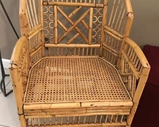 Bamboo Barrel Chair