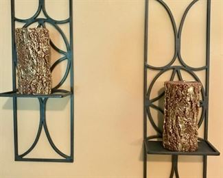 Metal candle holder wallhangings