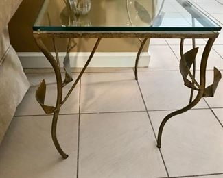 "One of a kind artist metal side table                                                 16"" x 29"" x 21 1/2"""