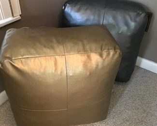 Metallic oversized bolster pillows
