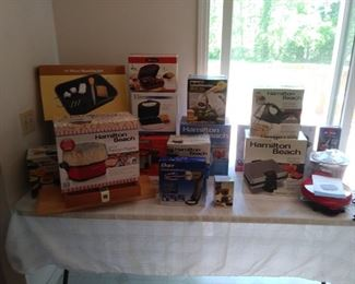 Large variety of brand new Hamilton Beach kitchen gadgets