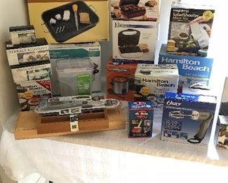 Large variety of Hamilton Beach kitchen gadgets