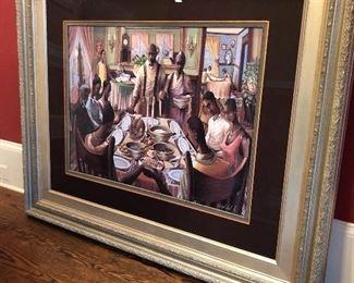 """""""Family Dinner"""" - framed modern art."""