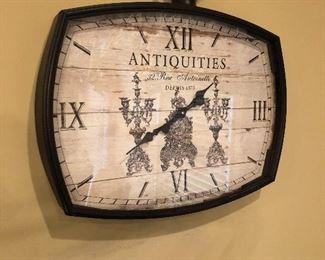"Great ""ANTIQUITIES""  wall clock."