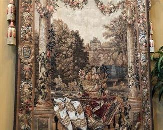 Italian tapestry of Florentine motif.