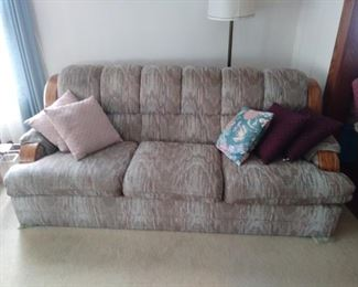 One of two piece living room couch set