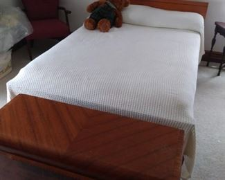 Lane Cedar Chest at the foot of a Full-size bed with headboard