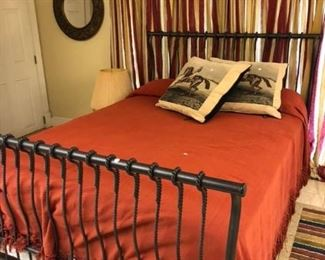 Metal queen bed