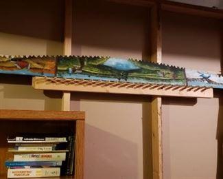 Beautiful hand painted saw