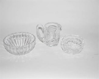 Waterford Crystal Bowls and Creamer