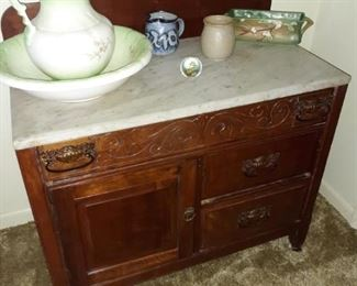 marble top Victorian wash stand