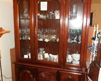 China Cabinet -one piece with glass front, 3 doors $65