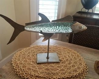 glass and metal fish