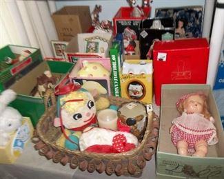 vintage seasonal and dolls