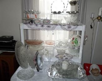 vintage glassware and crystal