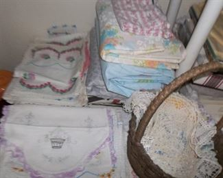 beautiful hand crafted doilies and crocheted linens