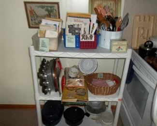 kitchen wares and cookbooks