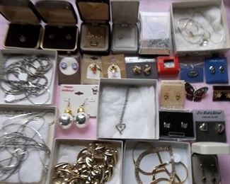 nice vintage jewelry, some sterling