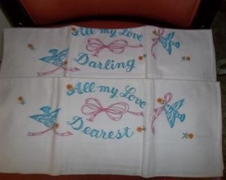 adorable embroidered pillow cases!