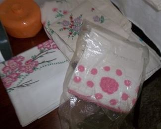 beautiful embroidered linens and pillow case sets