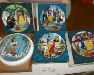 awesome vintage Disney Snow White plates