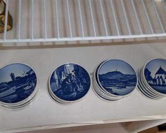 vintage Dutch butter pat plates