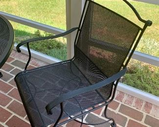 The chairs are rockers - very nice condition, very well constructed.