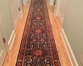beautiful hand tied Indian hall runner