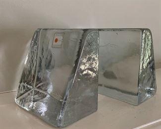 Blenko glass bookends