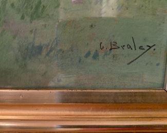 Signature of Clarence Braley (Massachusetts, 1854 - 1927)