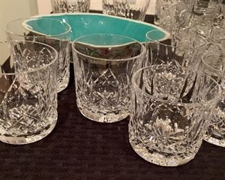 signed Waterford crystal tumblers