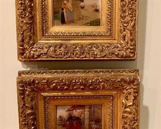 Two antique paintings in exquisite original frames