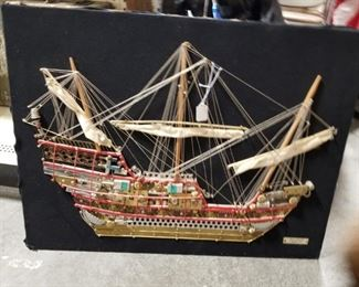 Ship made of unique items