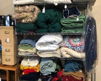 Blankets, pillows, bedding