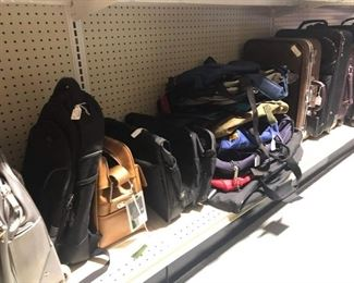Suitcases and xtra bags