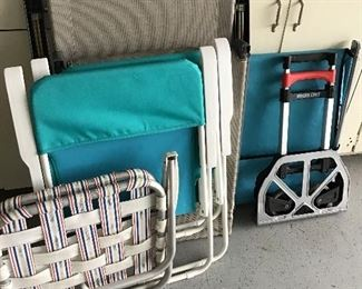 Lawn chairs, misc garage items