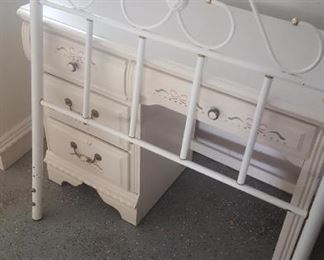 Dresser and twin bed frame