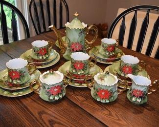 LEFTON CHINA CHRISTMAS TEA SET