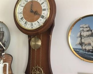 This is one of several nautical-themed wall clocks.