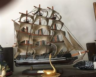 This is just one of dozens of ships all in mint condition and ready for display in the perfect spot in your home.