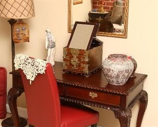 Chippendale style writing desk.